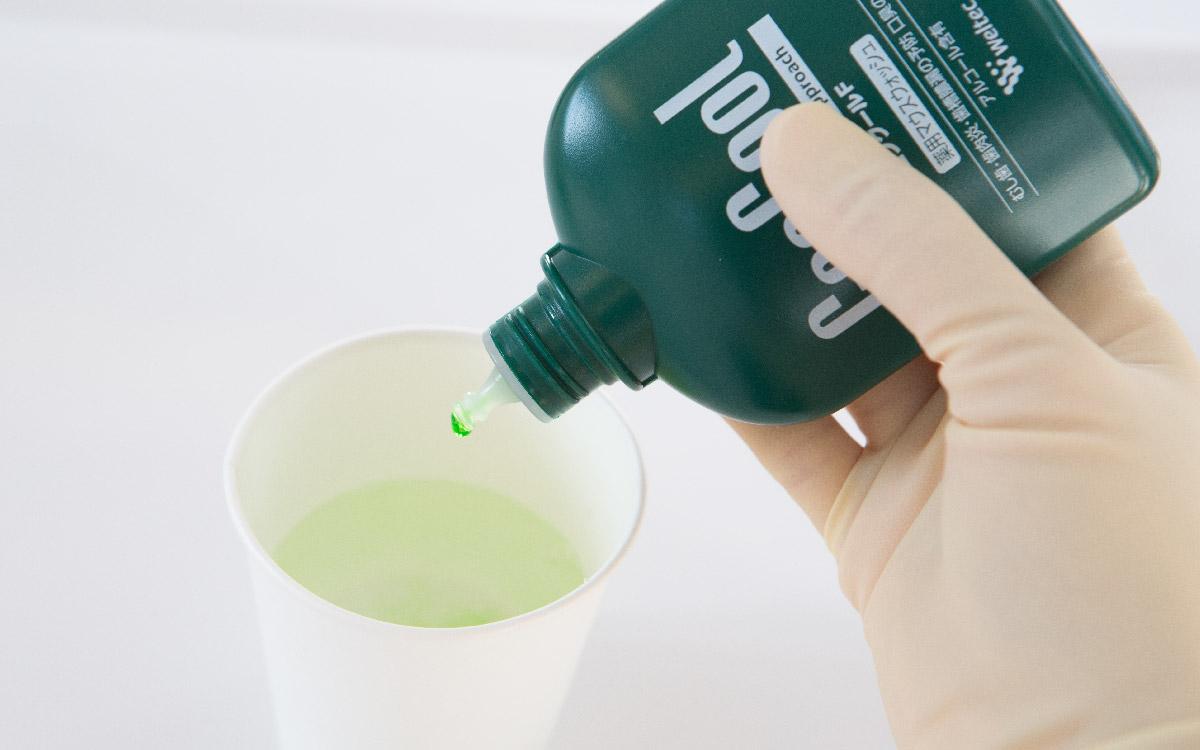 画像:洗口液の使用